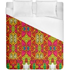 Abstract Background Design With Doodle Hearts Duvet Cover (california King Size) by Simbadda