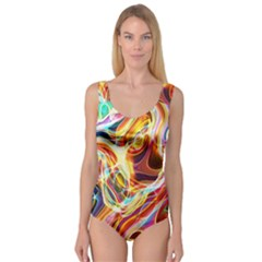 Colourful Abstract Background Design Princess Tank Leotard