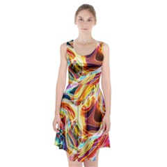 Colourful Abstract Background Design Racerback Midi Dress by Simbadda