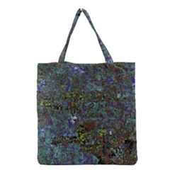 Stone Paints Texture Pattern Grocery Tote Bag by Simbadda