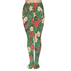 Berries And Leaves Women s Tights by Simbadda
