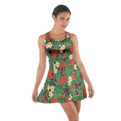Berries And Leaves Cotton Racerback Dress