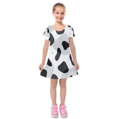 Abstract Venture Kids  Short Sleeve Velvet Dress