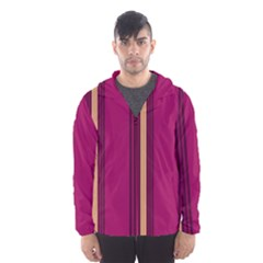 Stripes Background Wallpaper In Purple Maroon And Gold Hooded Wind Breaker (men) by Simbadda