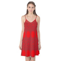 Red Flowers Velvet Flower Pattern Camis Nightgown