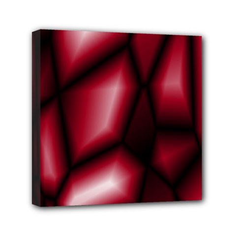 Red Abstract Background Mini Canvas 6  X 6