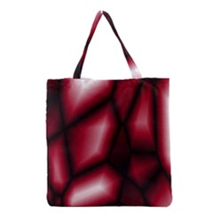Red Abstract Background Grocery Tote Bag by Simbadda