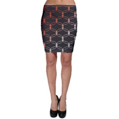 Cadenas Chinas Abstract Design Pattern Bodycon Skirt
