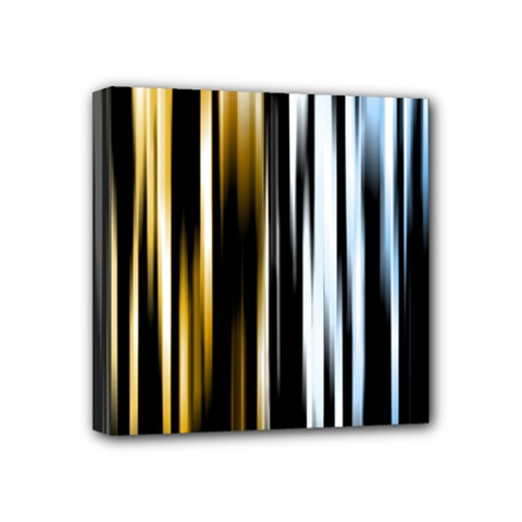 Digitally Created Striped Abstract Background Texture Mini Canvas 4  x 4