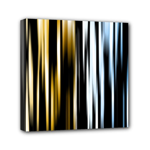 Digitally Created Striped Abstract Background Texture Mini Canvas 6  x 6