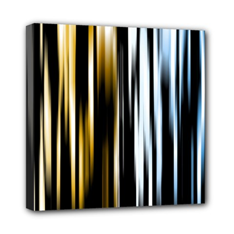 Digitally Created Striped Abstract Background Texture Mini Canvas 8  x 8
