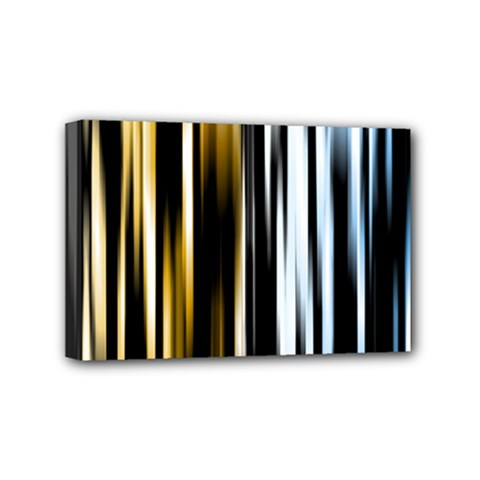 Digitally Created Striped Abstract Background Texture Mini Canvas 6  x 4