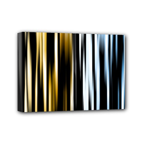 Digitally Created Striped Abstract Background Texture Mini Canvas 7  x 5