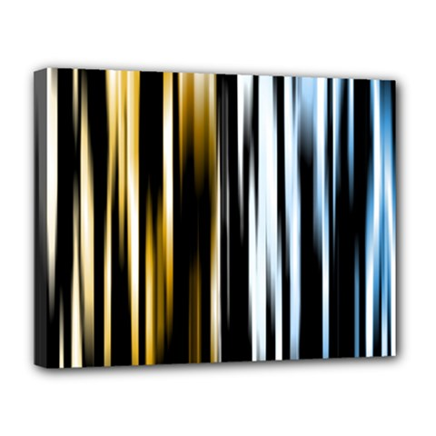 Digitally Created Striped Abstract Background Texture Canvas 14  x 11