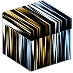 Digitally Created Striped Abstract Background Texture Storage Stool 12