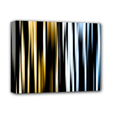 Digitally Created Striped Abstract Background Texture Deluxe Canvas 14  x 11