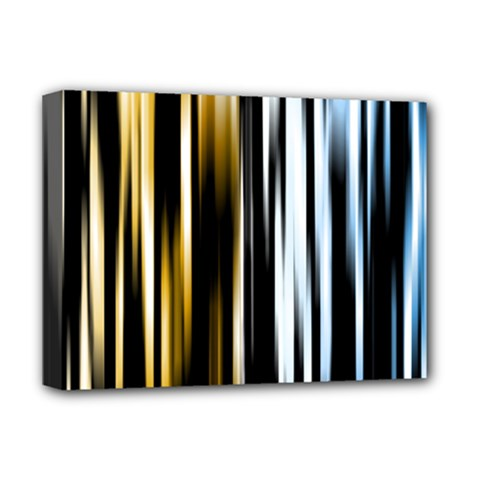 Digitally Created Striped Abstract Background Texture Deluxe Canvas 16  x 12
