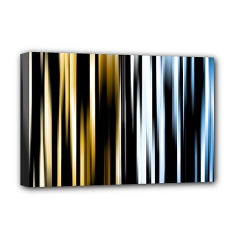 Digitally Created Striped Abstract Background Texture Deluxe Canvas 18  x 12