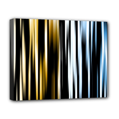 Digitally Created Striped Abstract Background Texture Deluxe Canvas 20  x 16