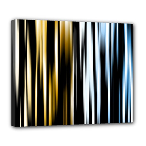Digitally Created Striped Abstract Background Texture Deluxe Canvas 24  x 20
