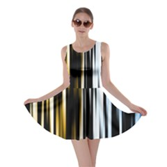 Digitally Created Striped Abstract Background Texture Skater Dress