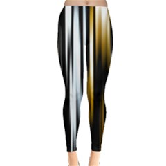 Digitally Created Striped Abstract Background Texture Leggings
