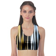Digitally Created Striped Abstract Background Texture Sports Bra