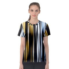 Digitally Created Striped Abstract Background Texture Women s Sport Mesh Tee