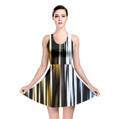 Digitally Created Striped Abstract Background Texture Reversible Skater Dress