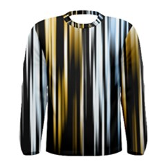 Digitally Created Striped Abstract Background Texture Men s Long Sleeve Tee
