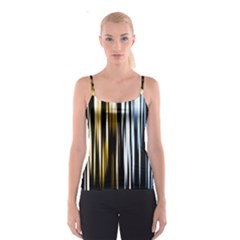 Digitally Created Striped Abstract Background Texture Spaghetti Strap Top