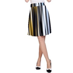 Digitally Created Striped Abstract Background Texture A-Line Skirt