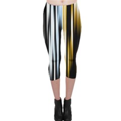 Digitally Created Striped Abstract Background Texture Capri Leggings