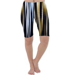 Digitally Created Striped Abstract Background Texture Cropped Leggings