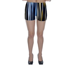 Digitally Created Striped Abstract Background Texture Skinny Shorts