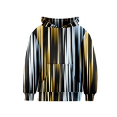 Digitally Created Striped Abstract Background Texture Kids  Pullover Hoodie