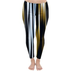 Digitally Created Striped Abstract Background Texture Classic Winter Leggings