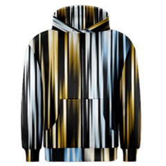 Digitally Created Striped Abstract Background Texture Men s Zipper Hoodie