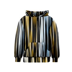 Digitally Created Striped Abstract Background Texture Kids  Zipper Hoodie
