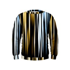 Digitally Created Striped Abstract Background Texture Kids  Sweatshirt