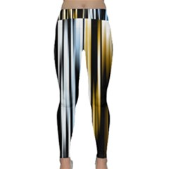 Digitally Created Striped Abstract Background Texture Classic Yoga Leggings