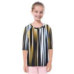 Digitally Created Striped Abstract Background Texture Kids  Quarter Sleeve Raglan Tee