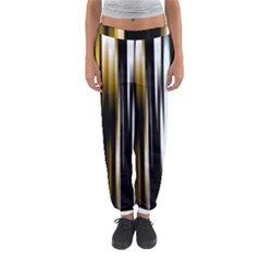 Digitally Created Striped Abstract Background Texture Women s Jogger Sweatpants