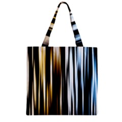 Digitally Created Striped Abstract Background Texture Zipper Grocery Tote Bag