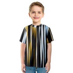 Digitally Created Striped Abstract Background Texture Kids  Sport Mesh Tee