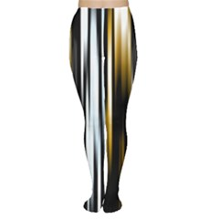 Digitally Created Striped Abstract Background Texture Women s Tights