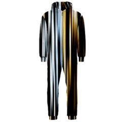 Digitally Created Striped Abstract Background Texture Hooded Jumpsuit (Men)
