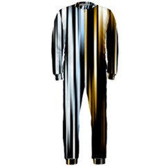 Digitally Created Striped Abstract Background Texture OnePiece Jumpsuit (Men)