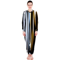 Digitally Created Striped Abstract Background Texture OnePiece Jumpsuit (Ladies)