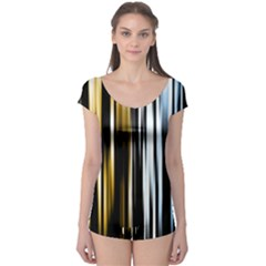 Digitally Created Striped Abstract Background Texture Boyleg Leotard